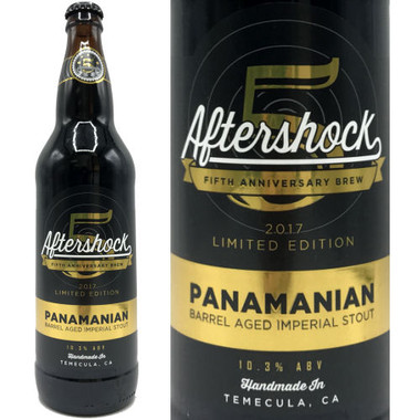 Aftershock Brewing 5th Anniversary Panamanian Barrel Aged Imperial Stout 22oz