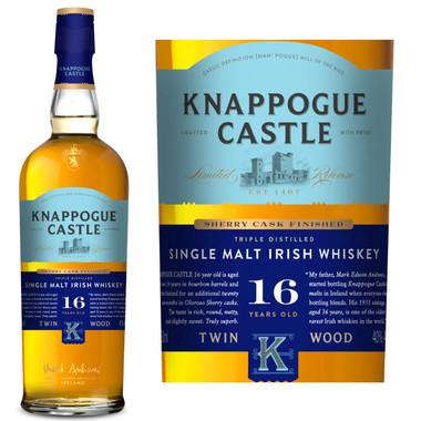 Knappogue Castle Sherry Cask Matured 16 Year Old Single Malt Irish Whiskey 750ml