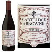 12 Bottle Case Cartlidge & Browne North Coast Pinot Noir 2015 w/ Free Shipping
