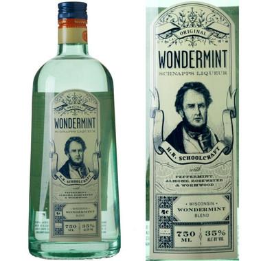Schoolcraft's Original Wisconsin Wondermint Schnapps Liqueur 750ml