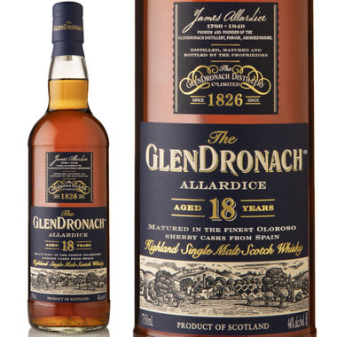 The Glendronach Allardice 18 Year Old Highland Scotch Whiskey 750ml