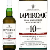 Laphroaig 10 Year Old CASK STRENGTH Islay Single Malt Scotch 750ml