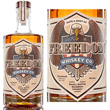 Have A Shot Of Freedom Whiskey Small Batch Bourbon Whiskey 750ml