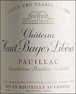 Chateau Haut-Bages Liberal Pauillac