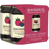 Rekorderlig Premium Wild Berries Cider 12oz 4 Pack Cans