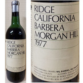 Ridge Morgan Hill Santa Clara Barbera 1977
