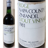 Ridge Stout Vineyard Napa Zinfandel 1981