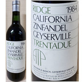 Ridge Trentadue Ranch Geyserville Vineyard Sonoma Zinfandel 1984