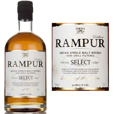 Rampur Vintage Select Casks Indian Single Malt Whisky 750ml