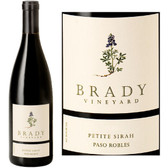 12 Bottle Case Brady Vineyard Paso Robles Petite Sirah 2016 w/ Free Shipping