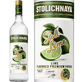 Stolichnaya Lime Flavored Russian Vodka 750ml