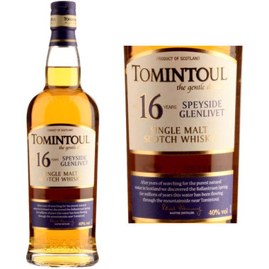 Tomintoul 16 Year Old Speyside Glenlivet 750ml