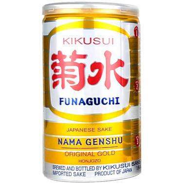 Funaguchi Kikusui Ichiban Shibori Yellow Can Sake 200ml