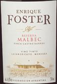 Bodega Enrique Foster Reserva Malbec