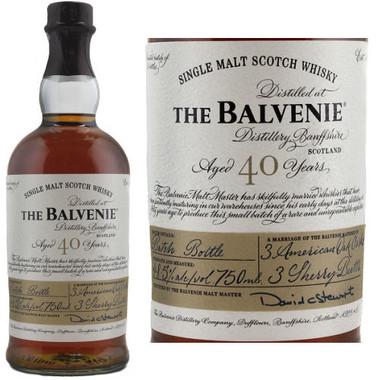 Balvenie 40 Year Old Batch 7 Speyside Single Malt Scotch 750ml