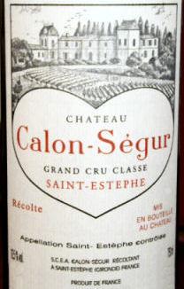 Chateau Calon Segur St. Estephe