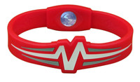 "Mojo-Raptor Wristband 8"" Red with White and Grey"