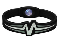 "Mojo-Raptor Wristband 7"" Black with White & Grey"