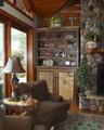 Custom Birchmont Bookcase with Glass Shelves