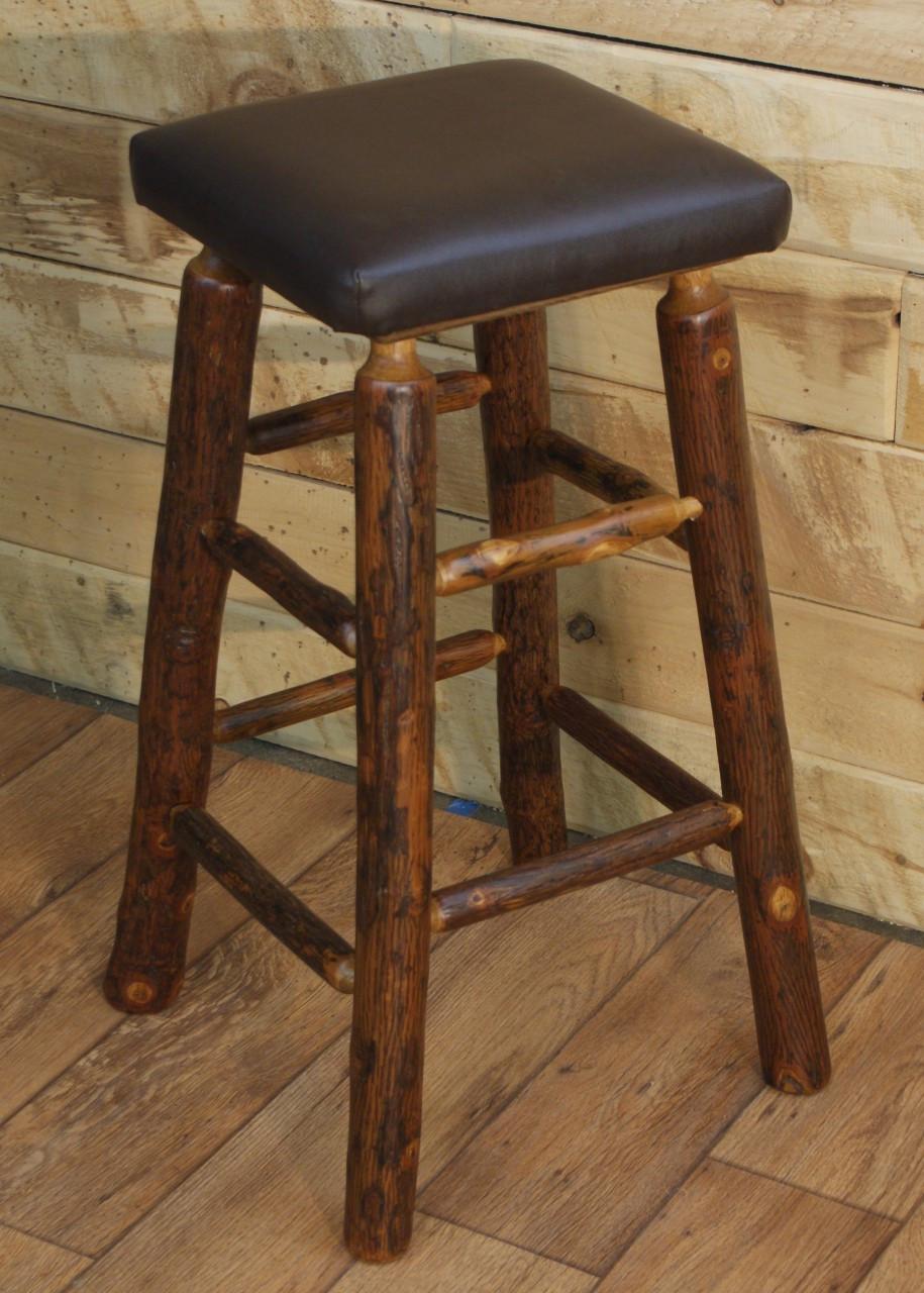 30 hickory log bar stool