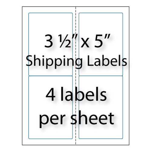 Shipping labels 3 1 2 x 5 4 up avery 5168 compatible for Avery 5168 template word