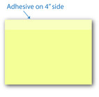 "4"" X 3"" Post-it Notes Canary Yellow with Black Ink 8 Pads of 50 Sheets"