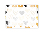 Gold Hearts Post-it Notes