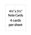 "Note Cards - 4-1/4"" x 5-1/2"" 