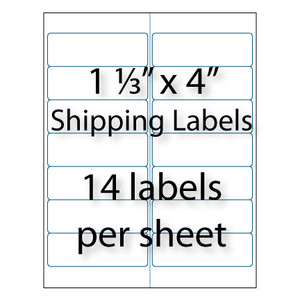 Address labels 1 1 3 x 4 14 up avery 5162 5962 for Avery 5962 template