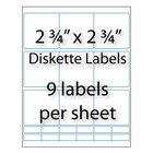 "Diskette Labels 2-3/4"" x 2-3/4"" 