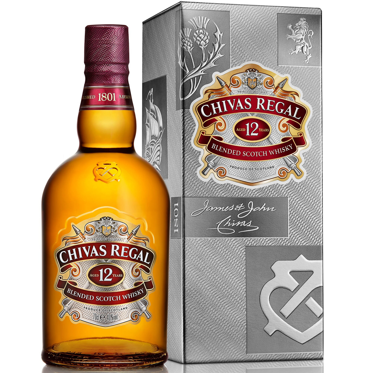 092287e7f1b Chivas Regal 12 Years Old Scotch Whisky 40% - 6x70cl. Image 1. Loading zoom