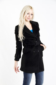 Pink Martini Hadley Coat in Black