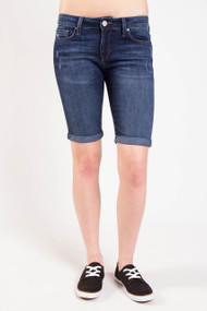 Mavi Karley Bermuda Denim Short in Deep Used Nolita