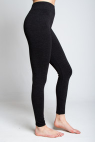 C'est Moi Heathered Leggings in Black