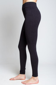 C'est Moi Heathered Leggings in Navy