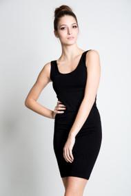 C'est Moi Bamboo Tank Dress in Black