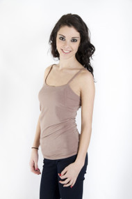 C'est Moi Bamboo Cami in Taupe