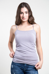 C'est Moi Bamboo Cotton Cami in Lilac Grey