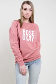 Brunette The Label Rose Okay Crew in Dusty Rose