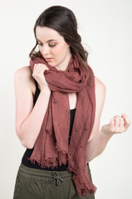 Jackson Rowe Cassidy Scarf in Rosewood