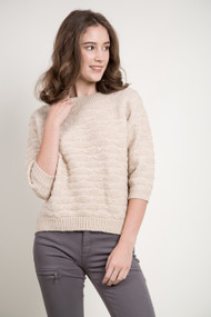 Kersh Boat Neck Sweater in Husked Tan