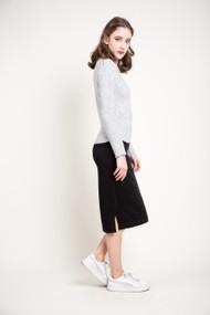 Kersh Midi Skirt in Black