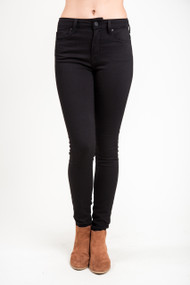 Mavi Tess High Rise Skinny in Double Black Tribeca