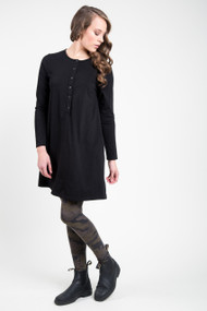 Nanavatee Long Sleeve Dress in Black