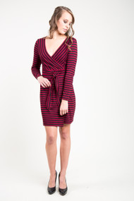 BB Dakota All Day Everyday Dress in Maroon