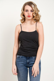 C'est Moi Bamboo Cami in Heather Black