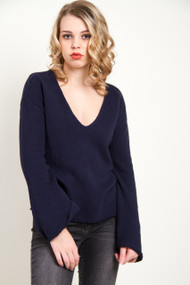 Amuse Society After Sundown Sweater in Dark Navy