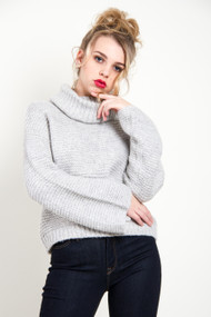 Gentle Fawn Lorne Sweater in Heathered Light Grey