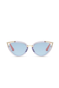 Quay Hearsay Sunnies in Blue + Blue
