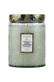 Voluspa Large Glass Jar Candle in French Cade Lavender